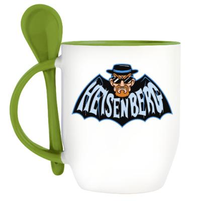 Кружка с ложкой Heisenberg Batman