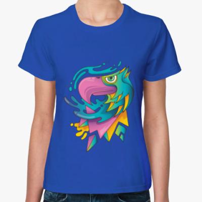 Женская футболка old school папугай