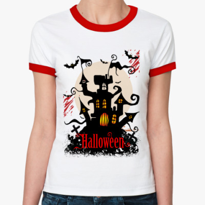 Женская футболка Ringer-T Хэллоуин
