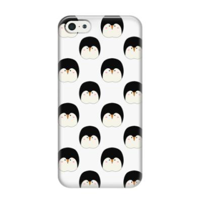 Чехол для iPhone 5/5s Пингвины