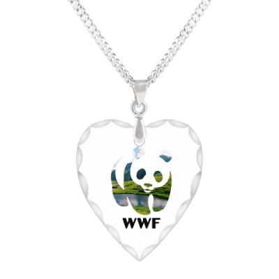 Кулон 'сердце' WWF. Панда. Природа