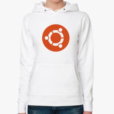 Женская толстовка худи Ubuntu