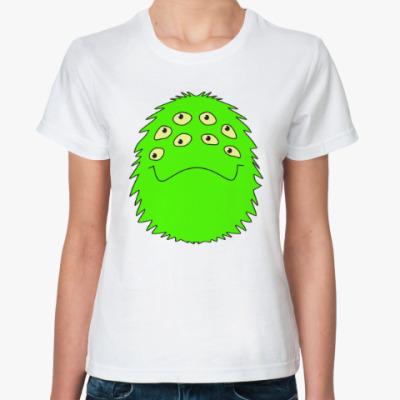 Классическая футболка веселый монстр