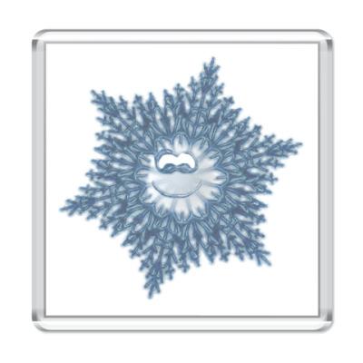 Магнит  `Улыбчивая снежинка`