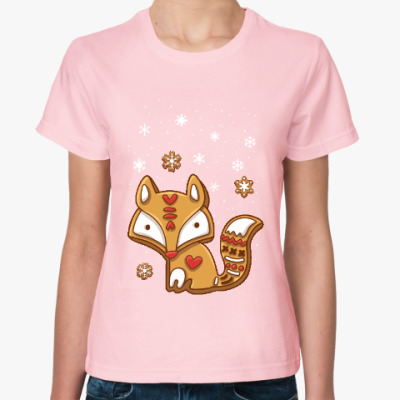 Женская футболка Пряничная лиса