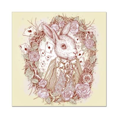 Наклейка (стикер) Белый Кролик