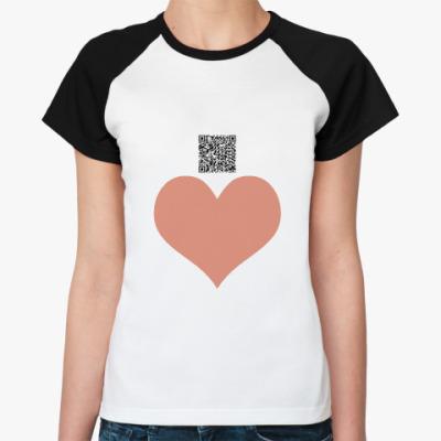 Женская футболка реглан Слабый пол