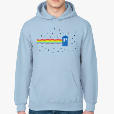 Толстовка худи  Nyan Cat &TARDIS