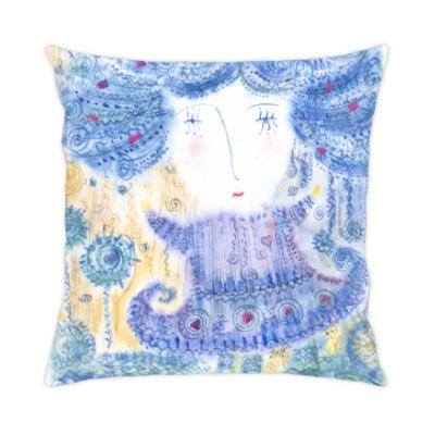 Подушка Девочка под дождем