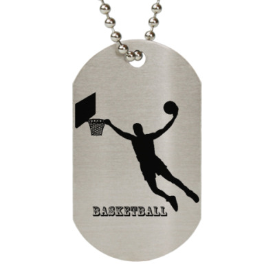 Жетон dog-tag  'Баскетбол'