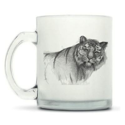 Кружка матовая Амурский тигр