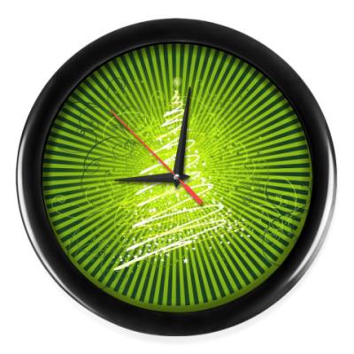 Настенные часы Новогодняя Ёлочка
