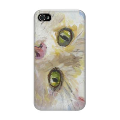 Чехол для iPhone 4/4s Нежный котик