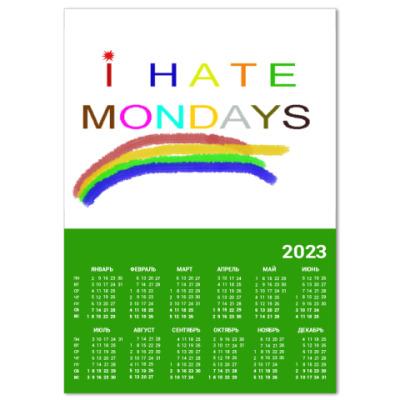 Календарь I hate mondays