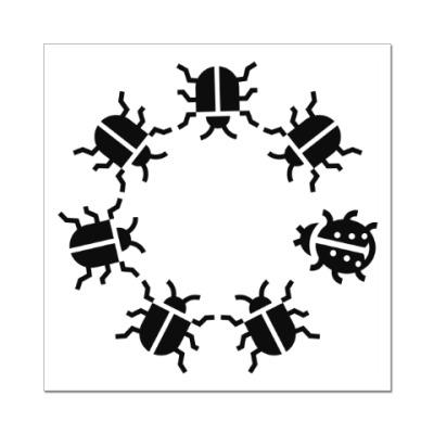 Наклейка (стикер) Другой жук