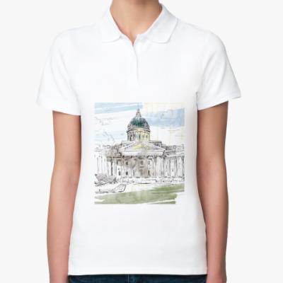 Женская рубашка поло Казанский собор. Питер.