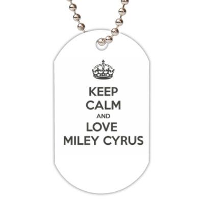 Жетон dog-tag keep calm Miley
