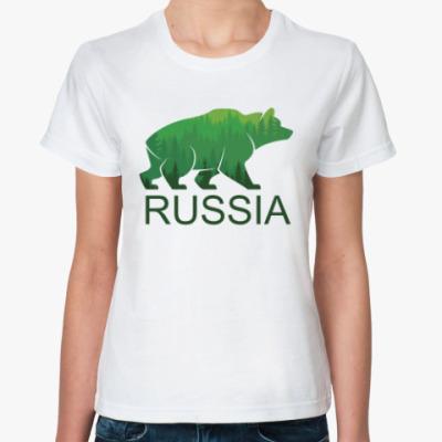 Классическая футболка Россия, Russia