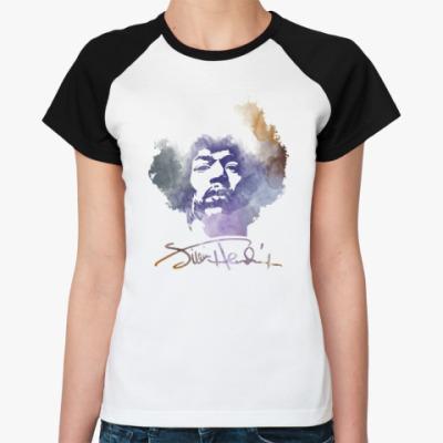 Женская футболка реглан  Jimi Hendrix - Джими Хендрикс
