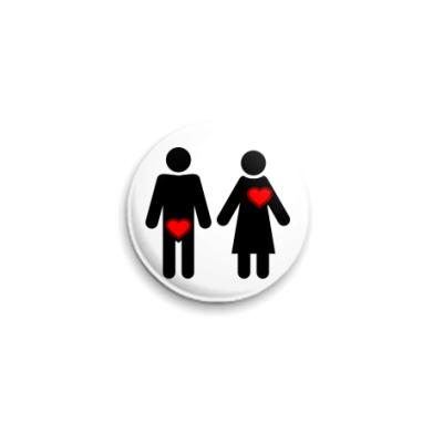 Значок 25мм Мужчина и женщина