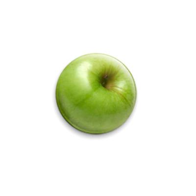 Значок 25мм Зелёное яблоко