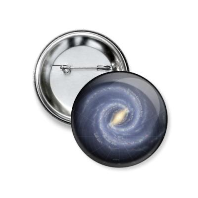Значок 37мм Галактика Млечный Путь