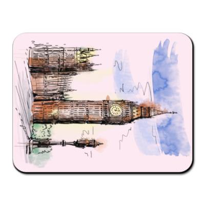 Коврик для мыши Биг-Бен -Big Ben-Англия-Лондон