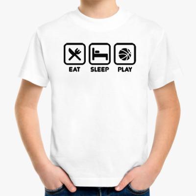 Детская футболка Eat Sleep Play