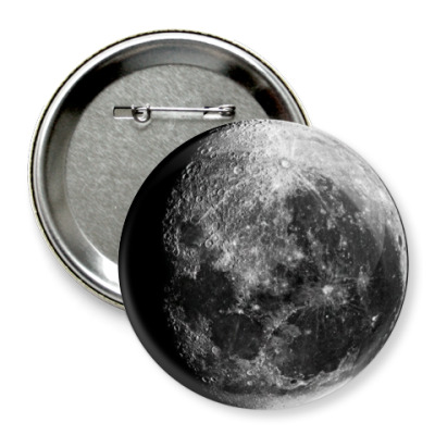 Значок 75мм  'Moon'