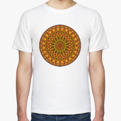 Футболка Мандала - круглый восточный орнамент