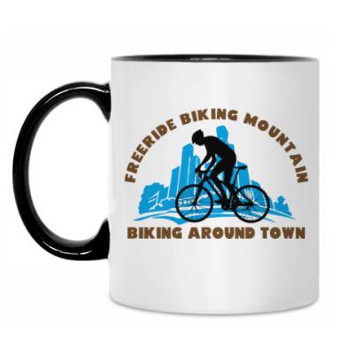 Кружка biking around town