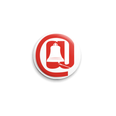 Значок 25мм  с логотипом