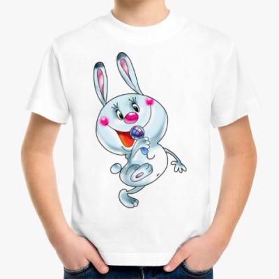 Детская футболка ЗАЯЦ С МИКРОФОНОМ