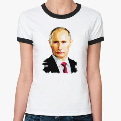Женская футболка Ringer-T Путин