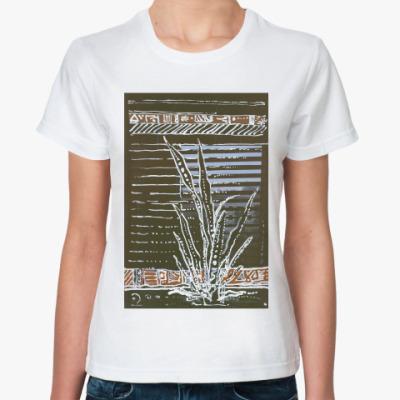 Классическая футболка взгляд из дома