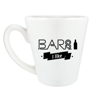 Чашка Латте 'Bars I like'