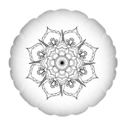 Подушка Мандала-раскраска
