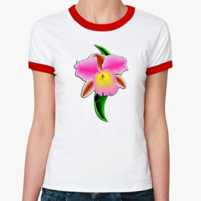 Женская футболка Ringer-T Орхидея