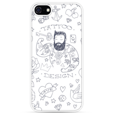 Чехол для iPhone Tattooed man
