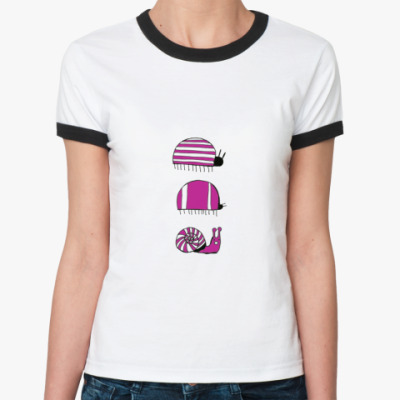 Женская футболка Ringer-T три жукашки