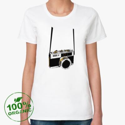 Женская футболка из органик-хлопка ФОТОГРАФ