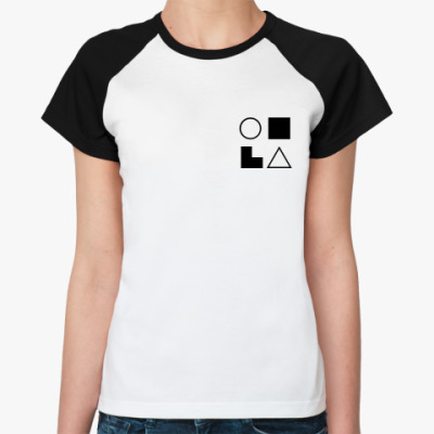 Женская футболка реглан  СЛИ (Габен)