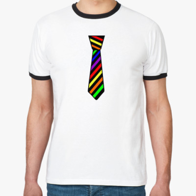 Футболка Ringer-T Радужный галстук