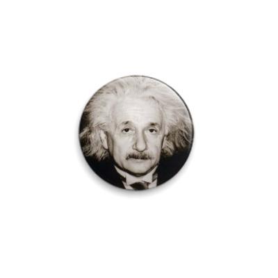 Значок 25мм  Альберт Энштейн