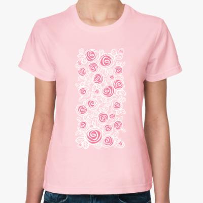 Женская футболка розочки