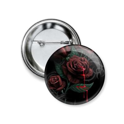 Значок 37мм  Кровавая Роза