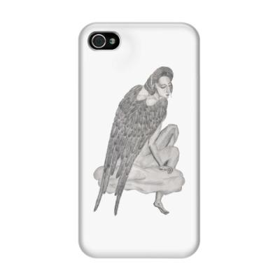 Чехол для iPhone 4/4s Ангел на облаке