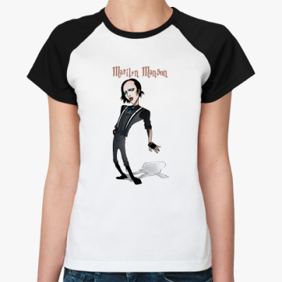 Женская футболка реглан Marilyn Manson