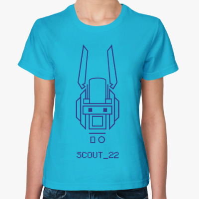 Женская футболка Робот по имени Чаппи