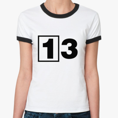 Женская футболка Ringer-T 13